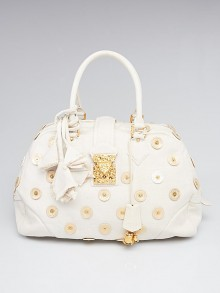 Louis Vuitton Limited Edition Beige Canvas Polka Dots Panema Bowly Bag