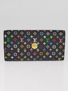 Louis Vuitton Black Monogram Multicolor Grenade Sarah Wallet