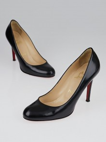 Christian Louboutin Black Leather Simple 100 Pumps Size 7/37.5