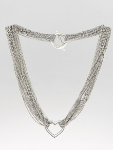 Tiffany & Co. Sterling Silver Ten Row Heart Toggle Necklace