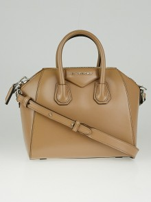 Givenchy Tan Box Leather Mini Antigona Bag