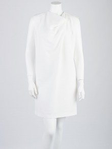 Celine White Viscose Blend Dress Size 4/36