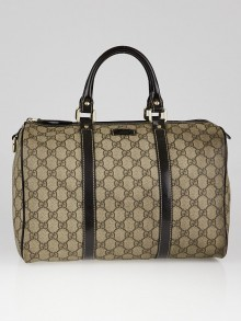 Gucci Beige/Ebony GG Coated Canvas Medium Joy Boston Bag
