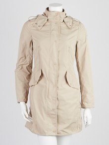 Moncler Tan Polyester Argelia Hooded Anorak Jacket Size 0/XS