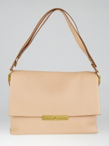 Celine Blush Grained Leather Blade Flap Bag