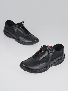 Prada Sport Black Leather Sneakers Size 8/38.5