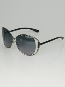 Tom Ford Silvertone Metal Frame Emmeline Sunglasses TF155