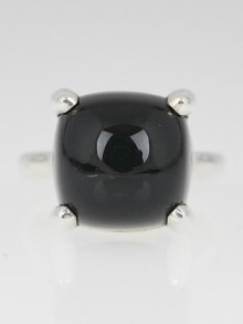 Tiffany & Co. Onyx Sterling Silver Paloma's Sugar Stacks Ring Size 6