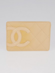 Chanel Beige Quilted Cambon Ligne Card Holder