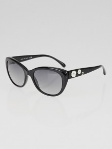 Chanel Black Frame Camellia Sunglasses-5187