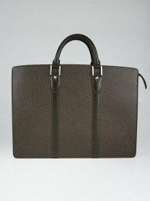 Louis Vuitton Grizzli Taiga Leather Lozan Briefcase Bag