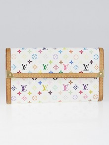 Louis Vuitton White Monogram Multicolor Porte-Tresor International Wallet