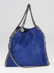 Stella McCartney Blue Shaggy Dear Faux-Leather Mini Falabella Bag