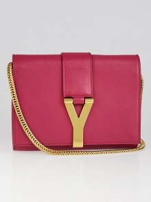 Yves Saint Laurent Pink Smooth Calfskin Leather ChYc Mini Crossbody Bag