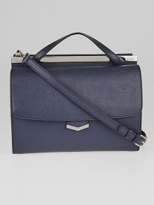 Fendi Blue Saffiano Leather Demi Jour Shoulder Bag 8BT222
