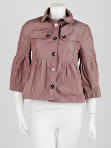 Burberry London Taupe Pink Polyester Barningham Jacket Size 6