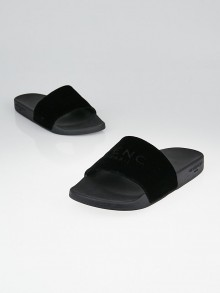Givenchy Black Viscose/Rubber Slide Sandals Size 9.5/40