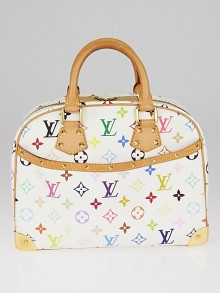 Louis Vuitton White Monogram Multicolore Trouville Bag