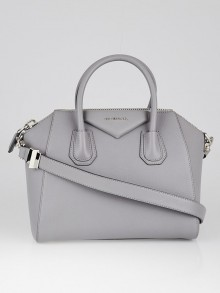 Givenchy Grey Sugar Goatskin Leather Small Antigona Bag