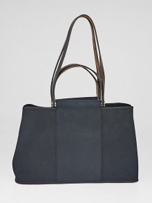 Hermes Black Canvas Cabag Elan Tote Bag