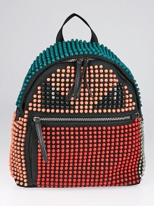Fendi Multicolor Beads and Black Nylon Monster Buggies Backpack Bag