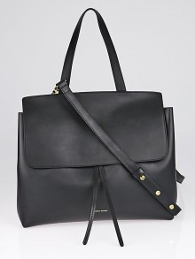 Mansur Gavriel Black/Flamma Vegetable Tanned Leather Lady Bag