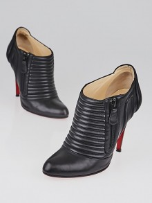 Christian Louboutin Black Nappa Leather Sigourney 100 Ankle Boots Size 7.5/38