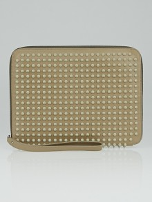 Christian Louboutin Beige Leather Cris Spike iPad Case