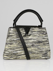 Louis Vuitton Black/Gold/Silver Broderies Capucines BB Bag