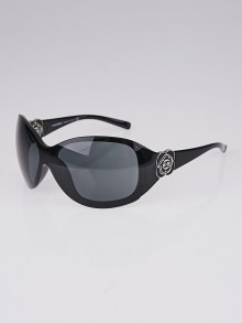 Chanel Black Frame Camellia Flower Sunglasses-6032