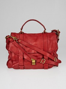 Proenza Schouler Red Leather Extra Large PS1 Satchel Bag
