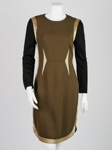 Givenchy Green Viscose/Elastane Blend Long Sleeve Dress Size 6/40