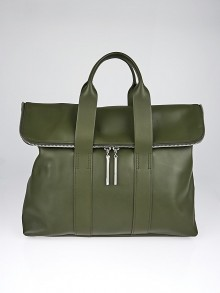 3.1 Phillip Lim Dark Olive Leather 31 Hour Bag