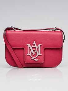 Alexander McQueen Pink Textured Leather Insignia Shoulder Bag