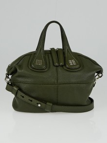 Givenchy Khaki Sugar Leather Micro Nightingale Bag