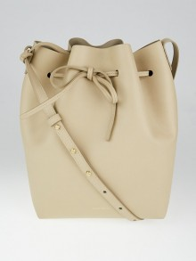 Mansur Gavriel Sand/Sand Calf Leather  Bucket Bag