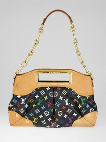 Louis Vuitton Black Monogram Multicolore Judy MM Bag