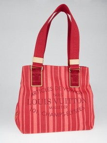 Louis Vuitton Limited Edition Rouge Grenadine Plein Soleil Beach Cabas Bag