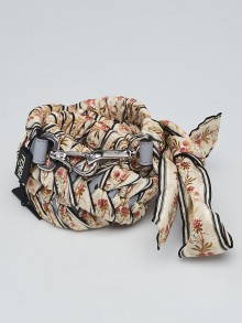 Fendi Multicolor Floral Ribbon Strap You Shoulder Strap