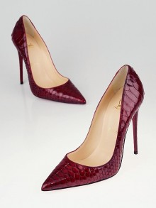Christian Louboutin Red Python Armure So Kate 120 Pumps Size 7/37.5