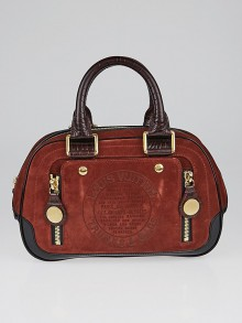 Louis Vuitton Limited Edition Rust Suede Havane Stamped Trunk PM Bag