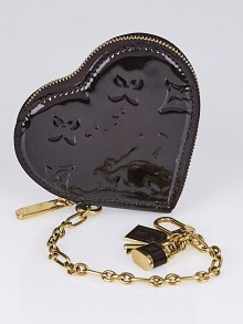 Louis Vuitton Amarante Monogram Vernis Heart Coin-Purse