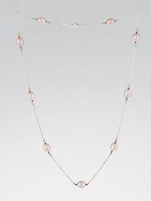 Tiffany & Co. Sterling Silver Pearls By the Yard Elsa Peretti Necklace