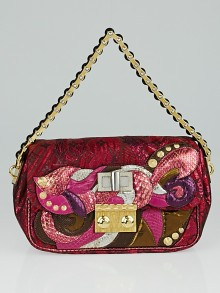 Louis Vuitton Limited Edition Pink Monogram Brocade Calliope Bag