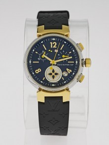 Louis Vuitton 34mm 18k Yellow Gold and Stainless Steel Tambour Lovely Cup Chronograph Quartz Watch