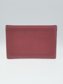 Hermes Bois De Rose Chevre Leather Calvi Card Case