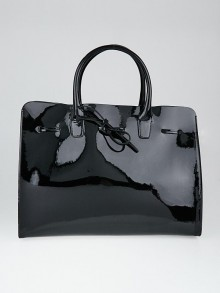 Mansur Gavriel Black Patent Leather Large Sun Bag