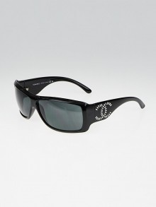 Chanel Black Acetate Rectangle Frame CC Sunglasses- 6021-B
