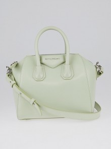 Givenchy Aqua Green Box Leather Mini Antigona Bag