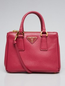Prada Peonia Saffiano Lux Leather Nano Tote Bag BN2842